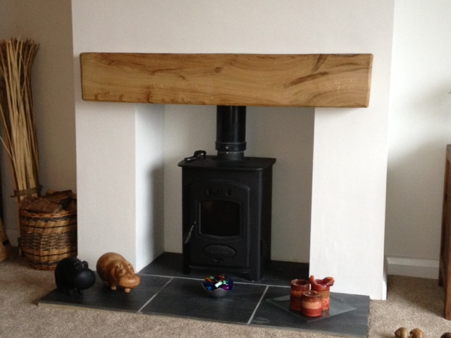air dried oak mantel