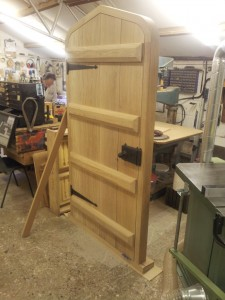 Large Medievil style swept head door and frame