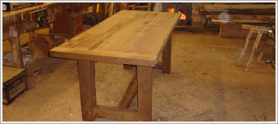 solid oak table made in our workshop