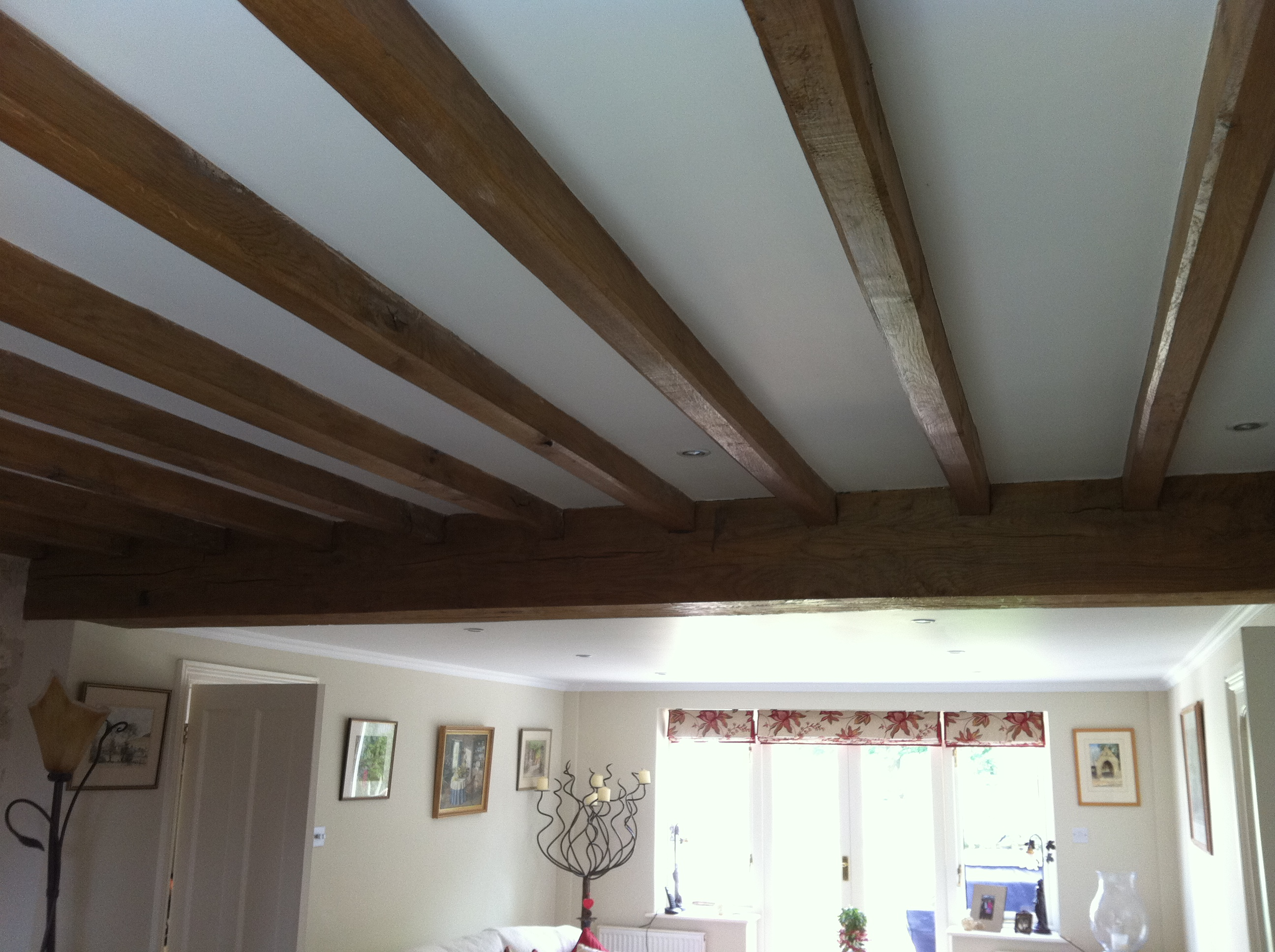 Air Dried Oak Ceiling Beams Tradoak Case Study