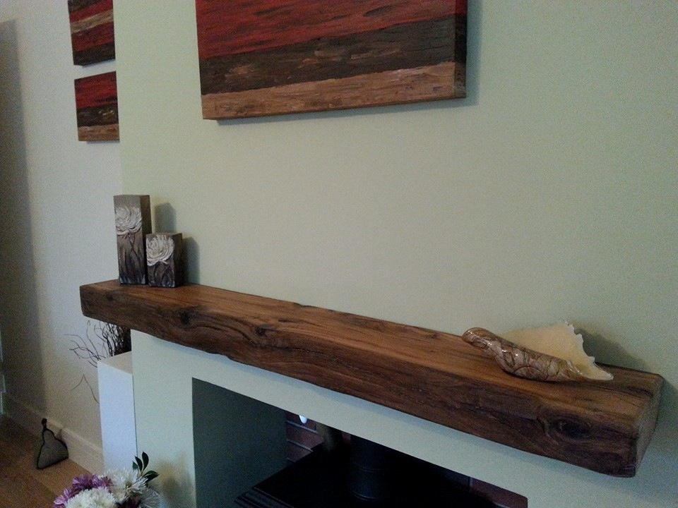 floating oak beam
