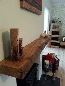 bespoke oak fireplace beams with lovely curved edge