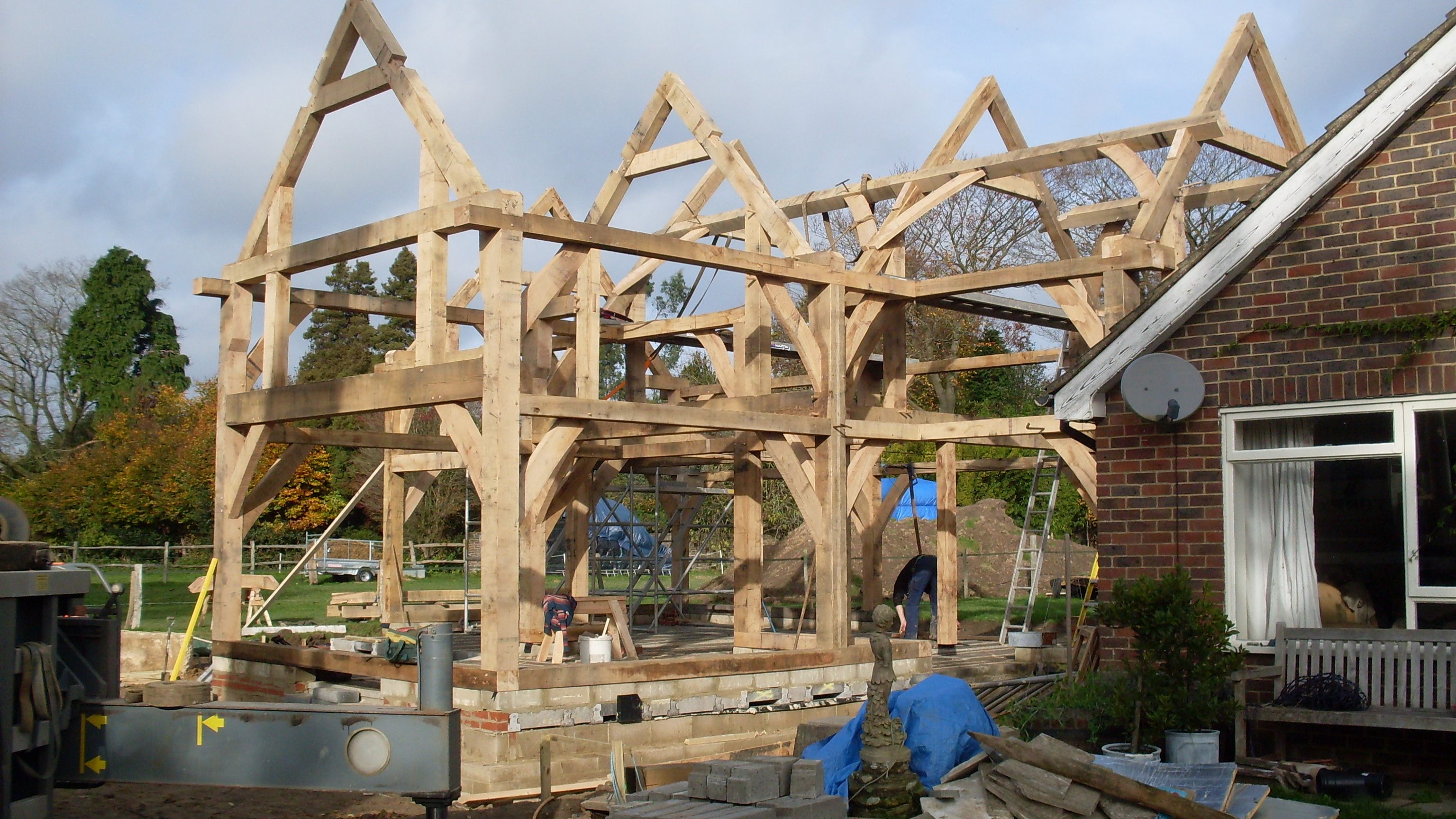 Structural oak beams for houses garages extensions for Structural beams for houses