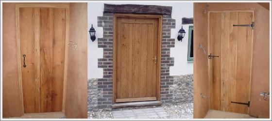 3 oak doors which have a lovely gloss finish