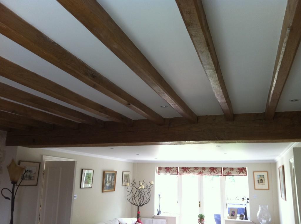 Air Dried Oak Ceiling Beams - Tradoak Case Study