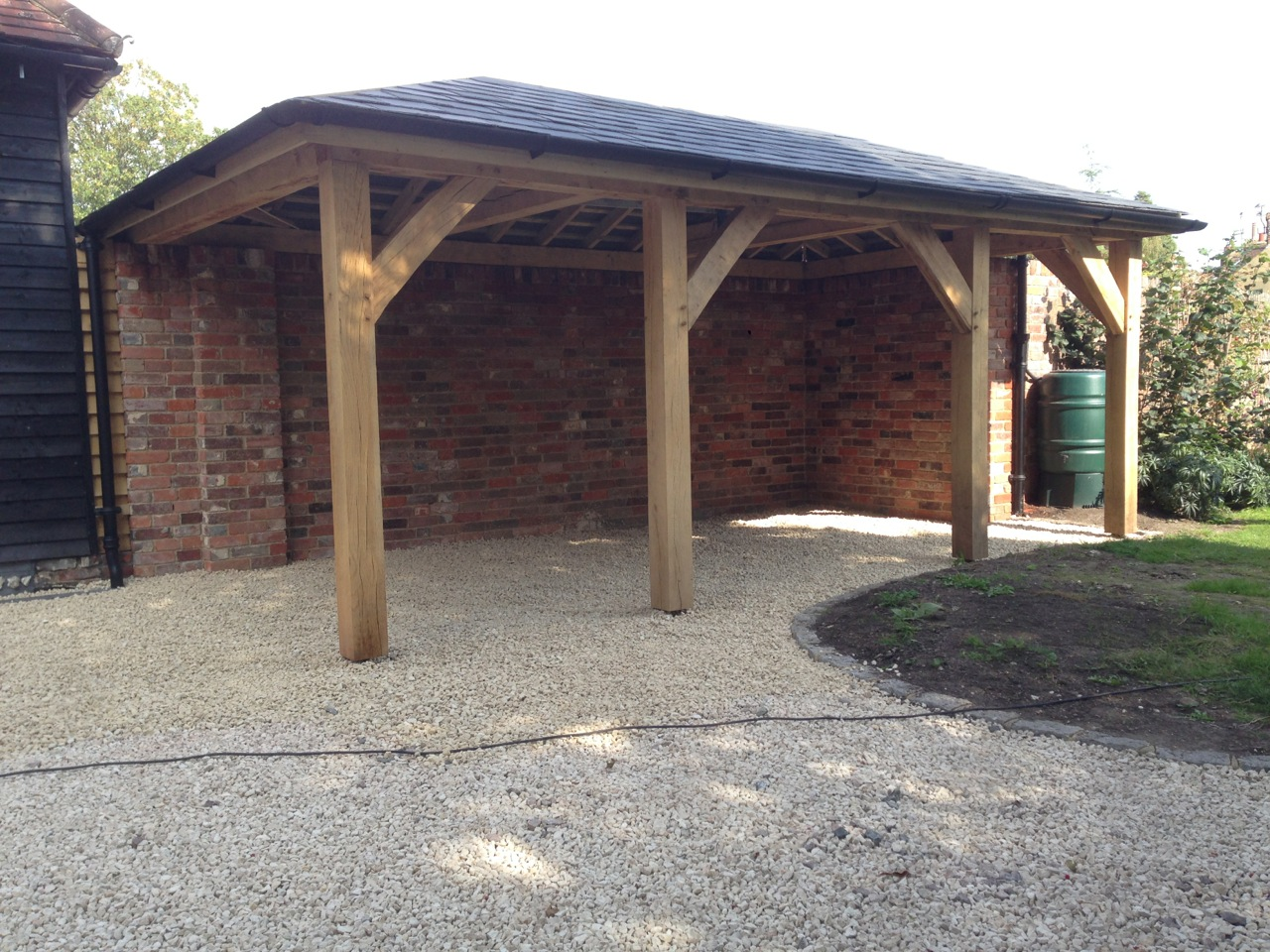 garage lean to ideas - Oak Framed Carport Tradoak Case Study