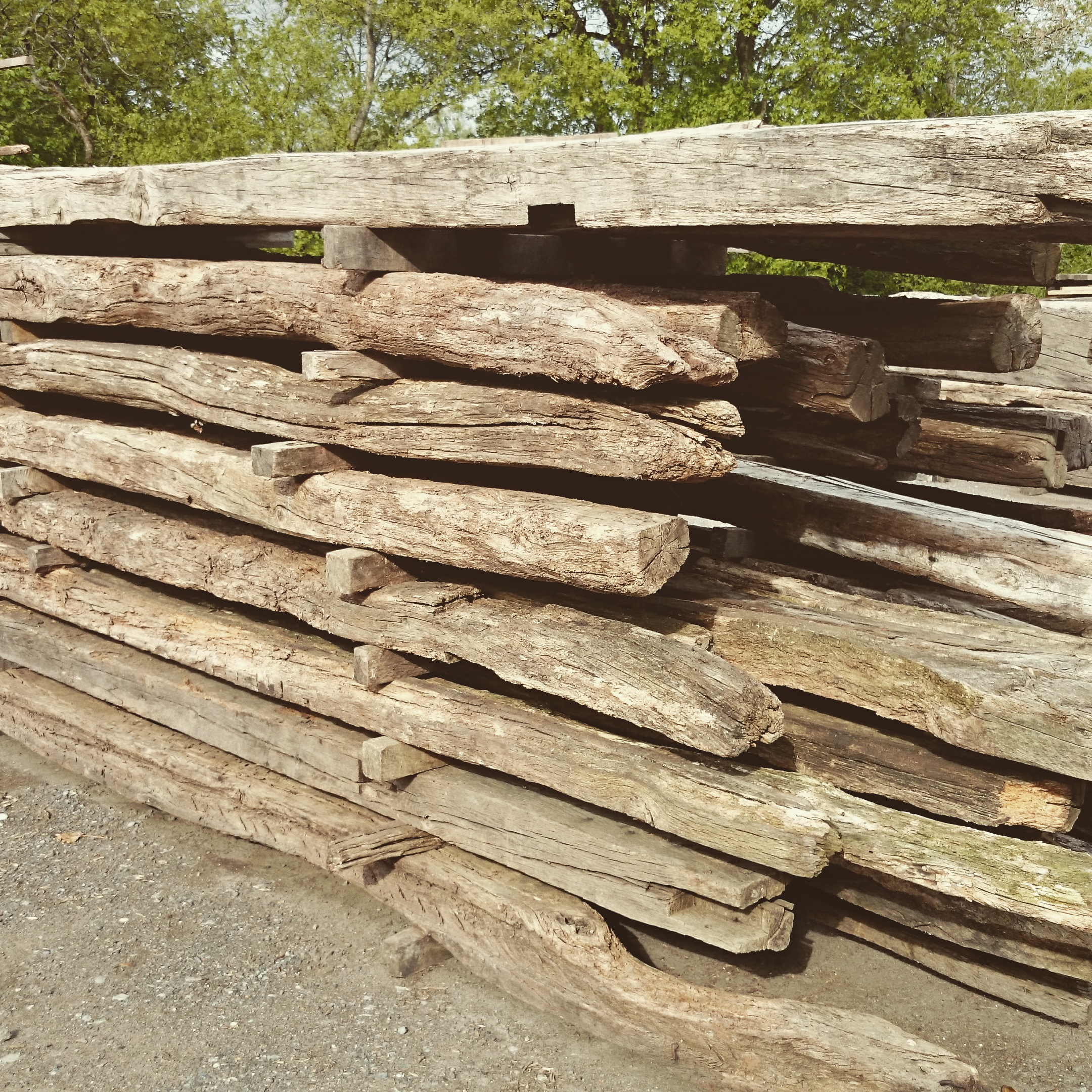 Selecting reclaimed beams for a frame is meticulous, but rewarding