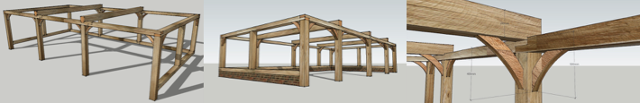3D oak beam frame planning