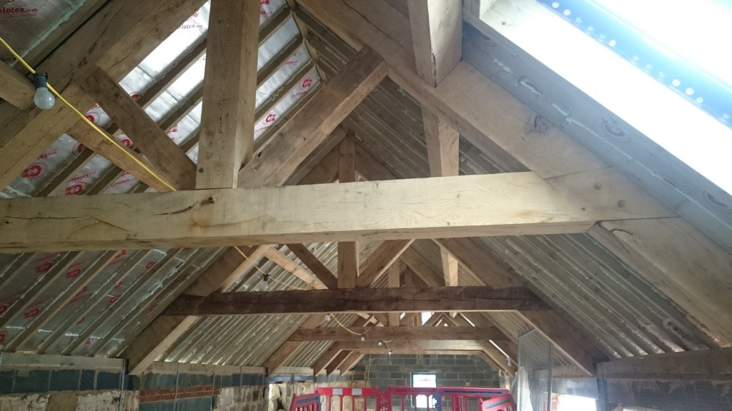 The trusses in situ