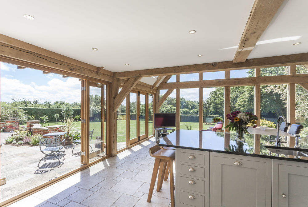 Floor beams and french doors