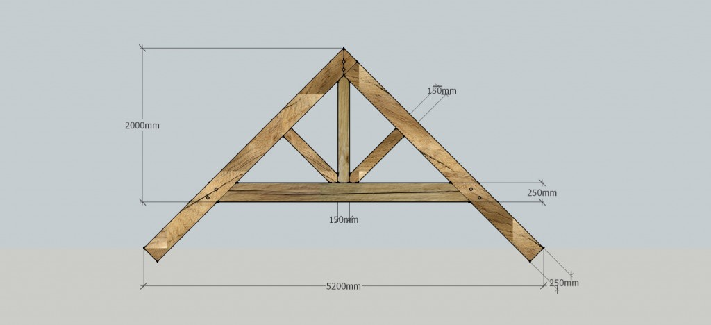 Raised collar truss