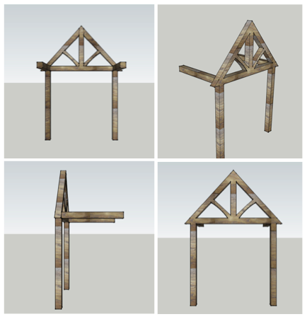 3d oak frame design